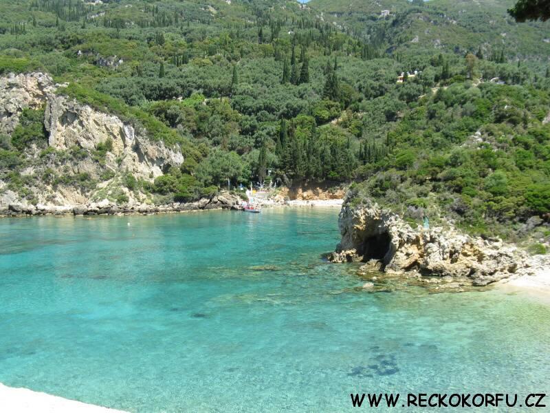 Korfu Paleokastritsa Řecko 1