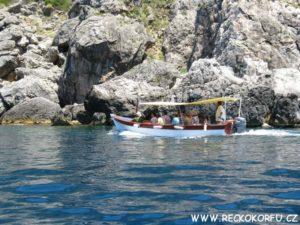 Korfu Paleokastritsa - výlet lodí 2