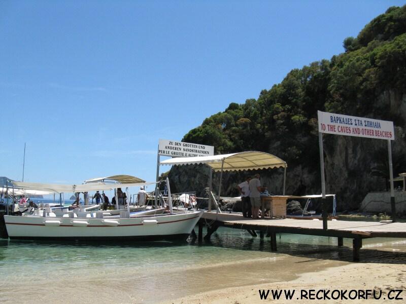 Korfu Paleokastritsa - výlet lodí 1