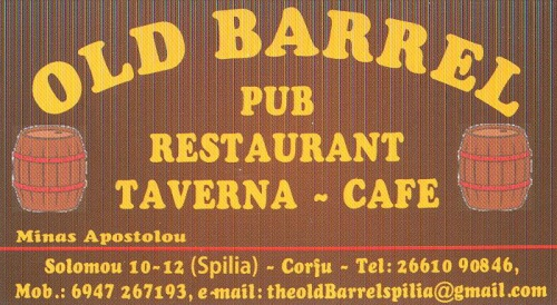 Old barrel pub Kerkyra – Řecko Korfu