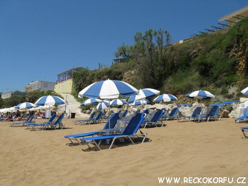 Pláž 2 – Agios Georgios – Řecko Korfu