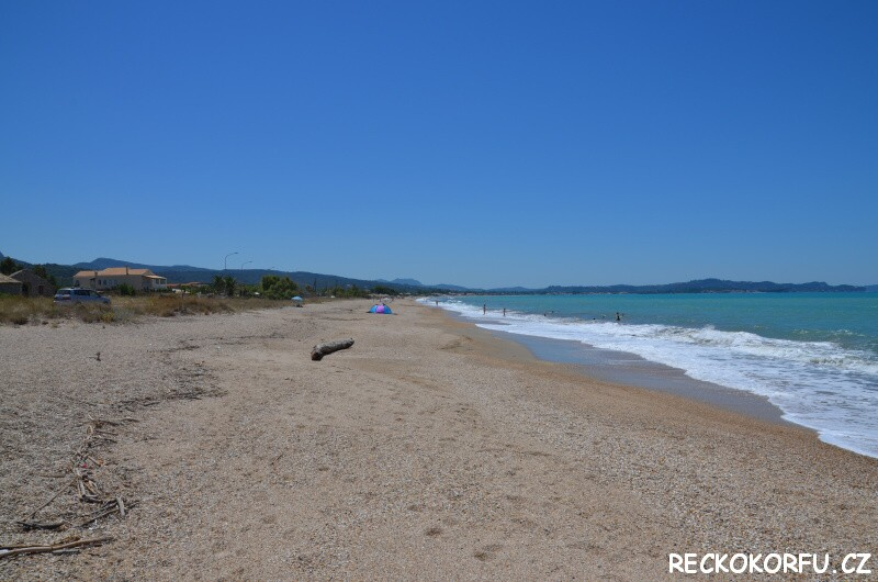 Pláž Acharavi – Řecko Korfu