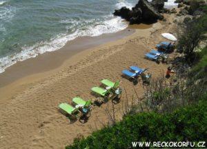 Pláž Agios Georgios - Řecko Korfu