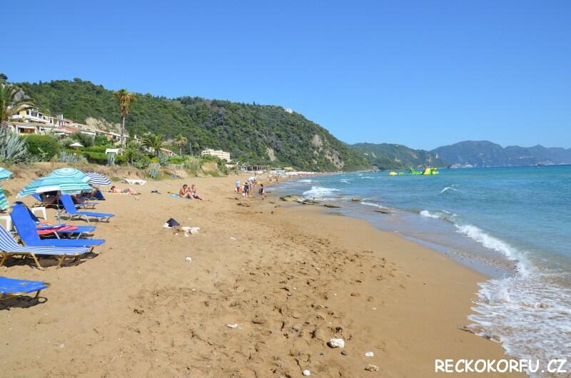 Pláž Glyfada Řecko Korfu 2