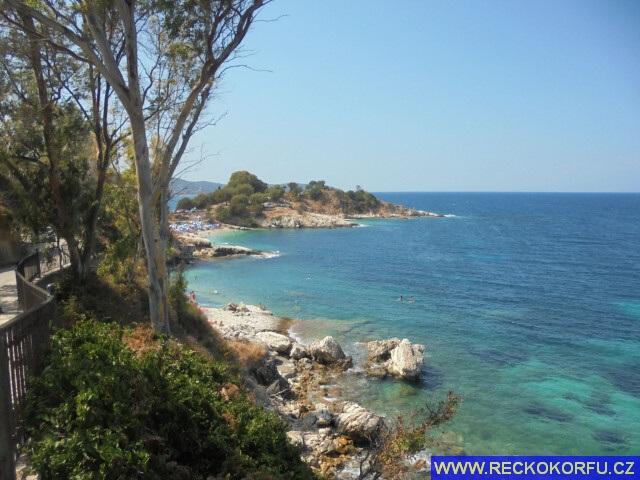 Porto Timoni pláž - Řecko Korfu 2